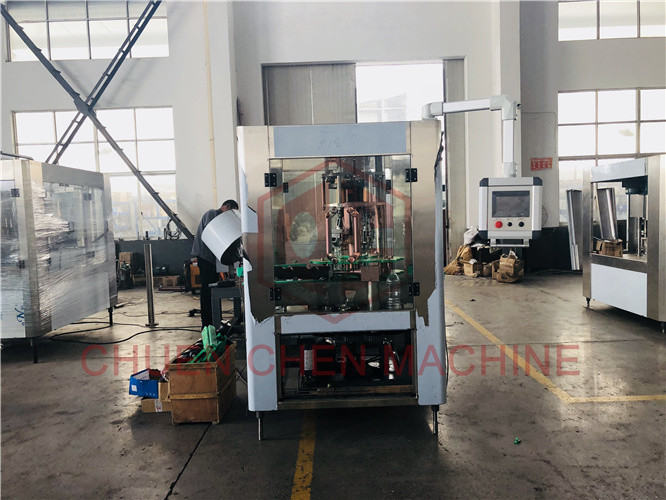 4 Head Aluminum Can Filling Screw Capping Machine Bottled Water Manufacturing Machine